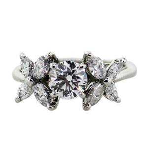 Tiffany & Co. Platinum and Diamond Victoria Collection Ring