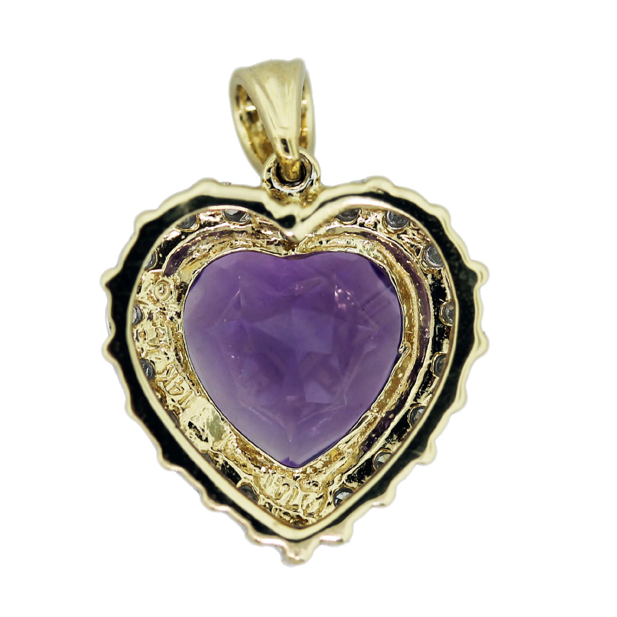 Gallery View of Amethyst Heart Pendant