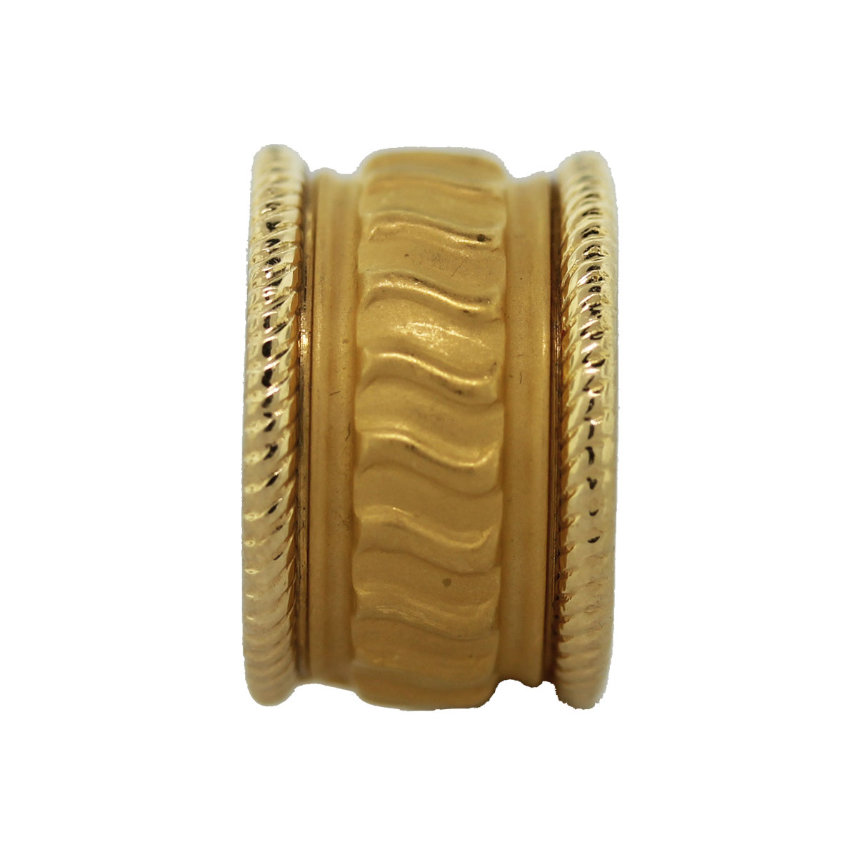 Carrera Y Carrera 18k Yellow Gold Ribbed Design Ring