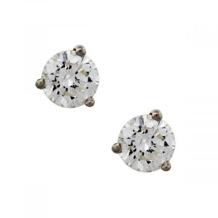 1 Carat Total Weight Round Diamond Stud Earrings