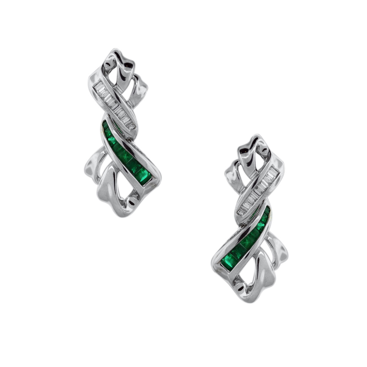 Emerald Ribbon Earring