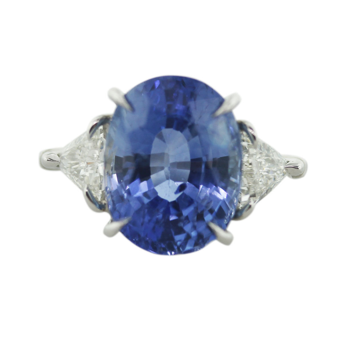 You are viewing this Ceylon Sapphire, Platinum and Diamond Cocktail/ Engagement Ring!