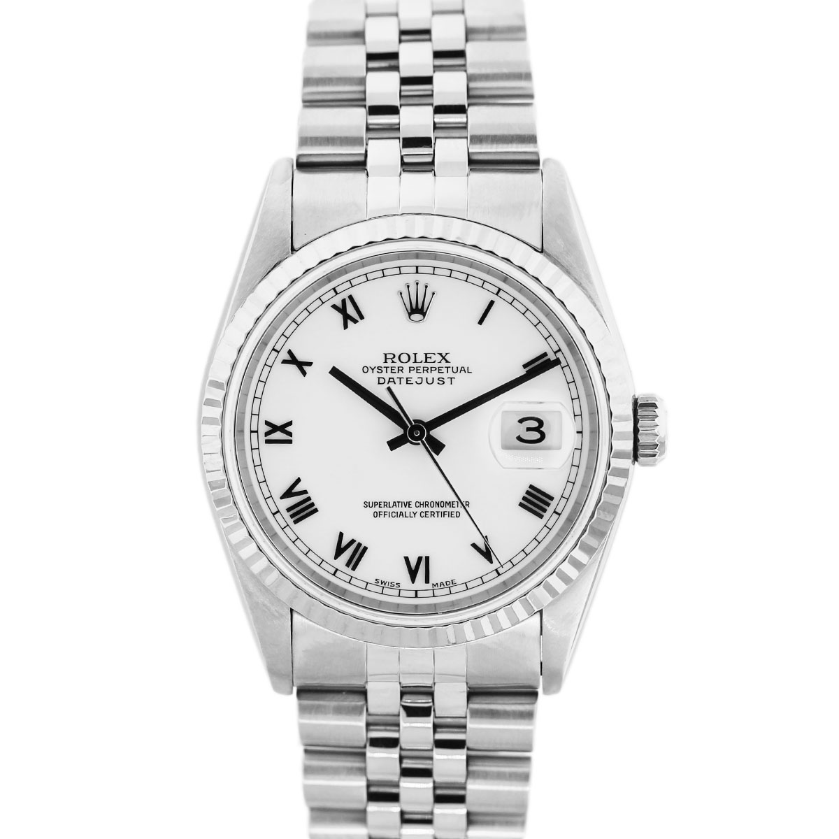 rolex oyster perpetual datejust 16234 stainless steel watch. Black Bedroom Furniture Sets. Home Design Ideas