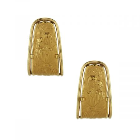 18k Yellow Gold Romeo and Juliet Earrings