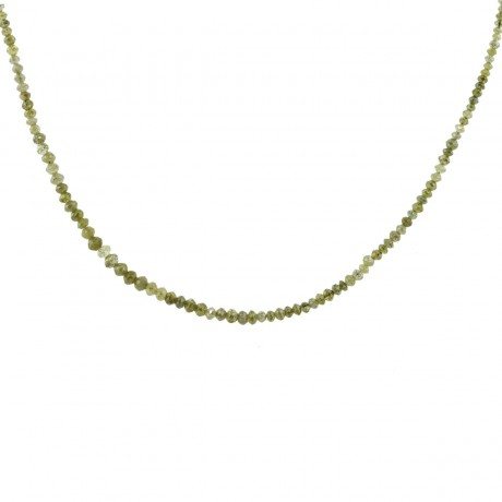 10ctw Faceted Yellow Diamond Graduated Bead Necklace