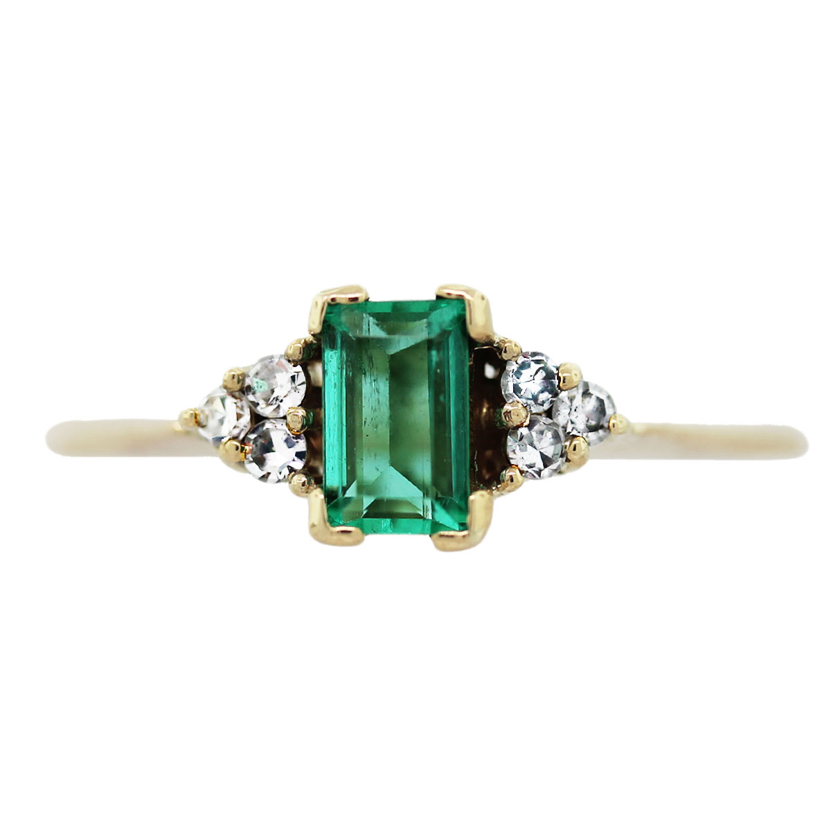 emerald diamond gold ring boca raton