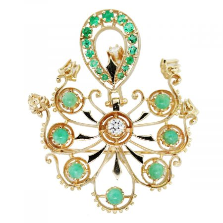 Jade Emerald Pin Front