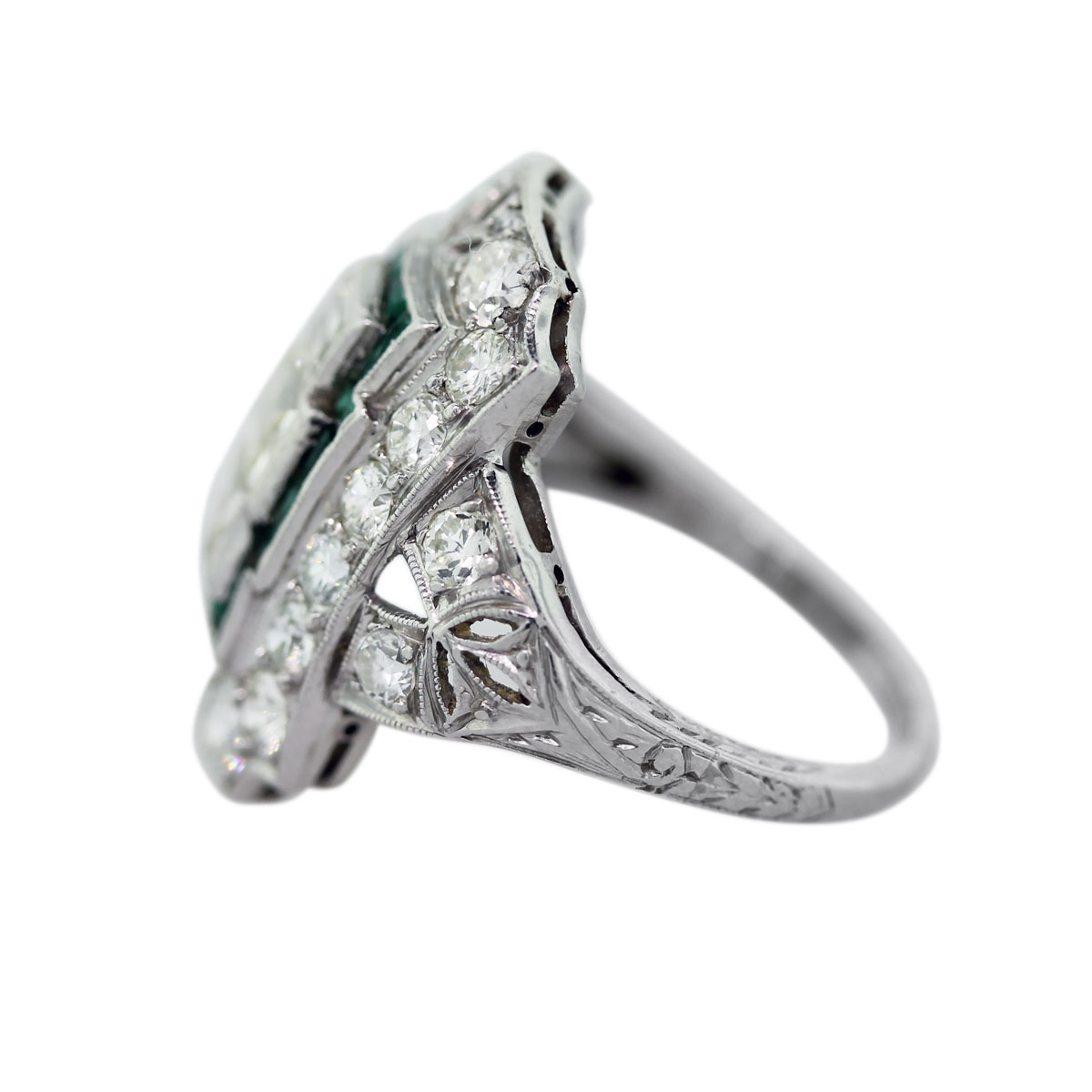 Side of Emerald Ring