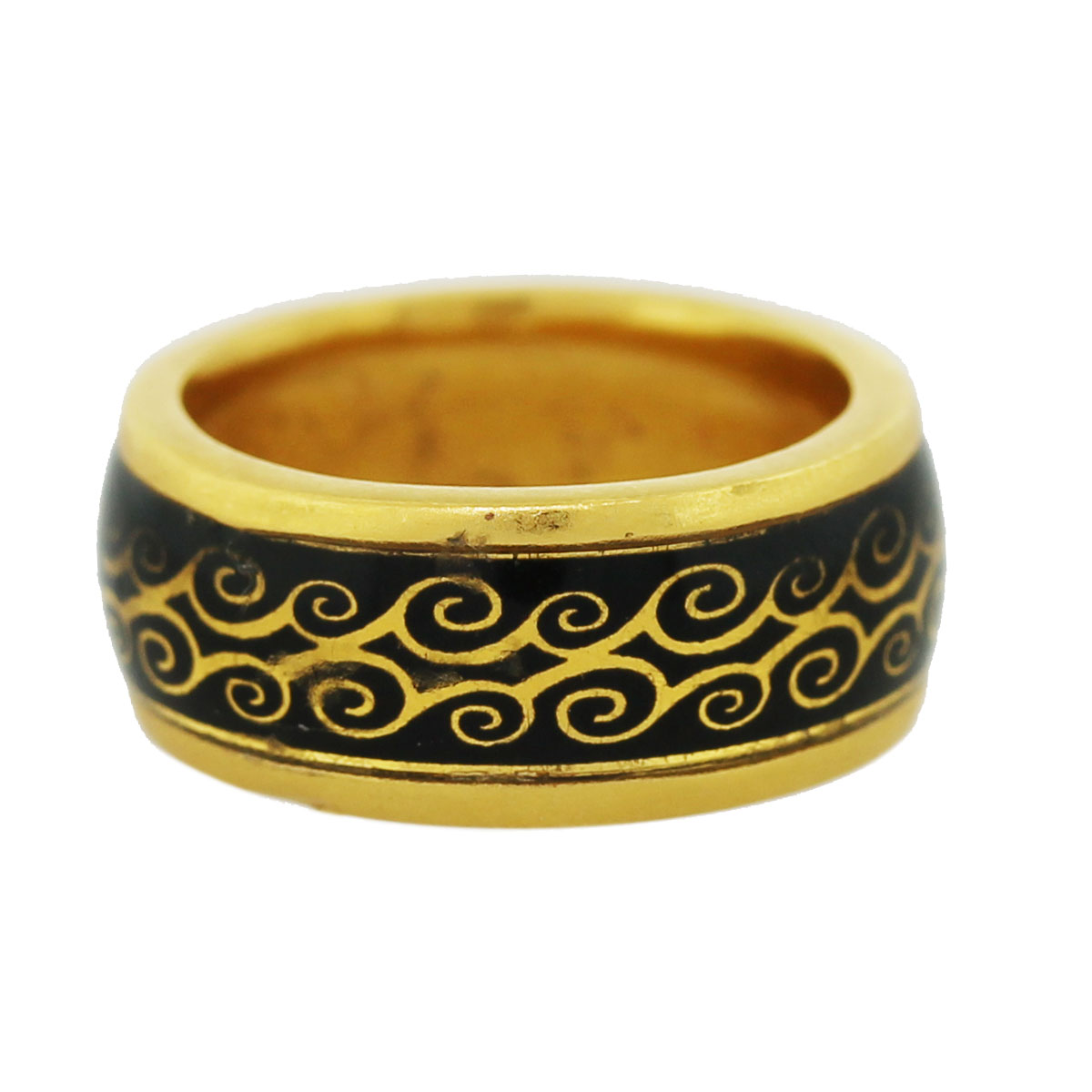 Gold Enamel Ring