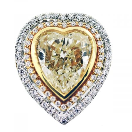 fancy yellow diamond heart shape engagement ring large