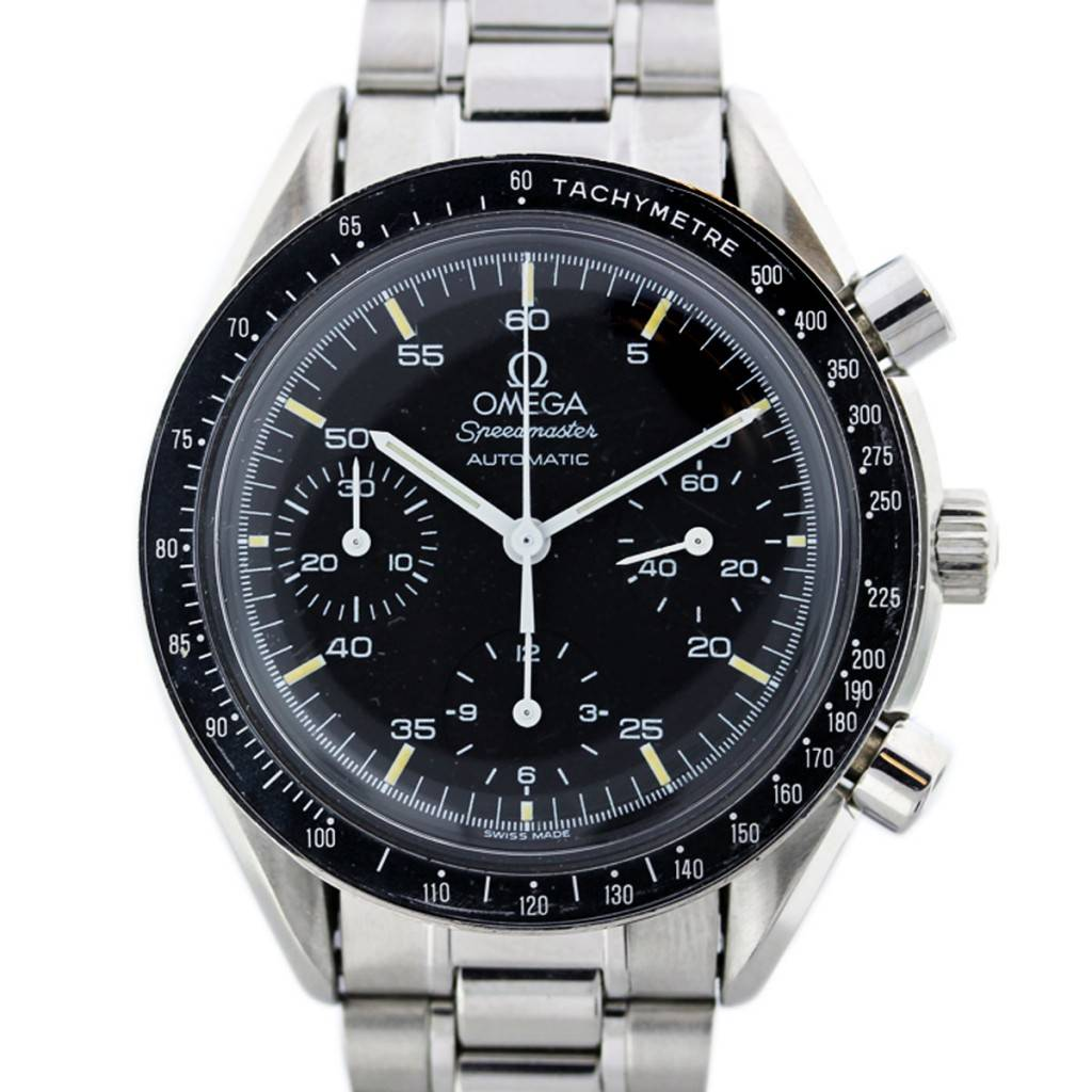 Vintage omega speedmaster chronograph automatic stainless steel watch for Omega watch speedmaster