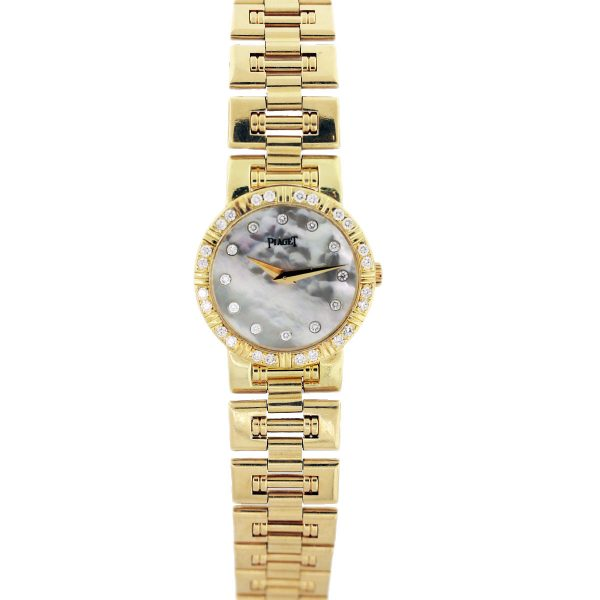 yellow gold piaget watch