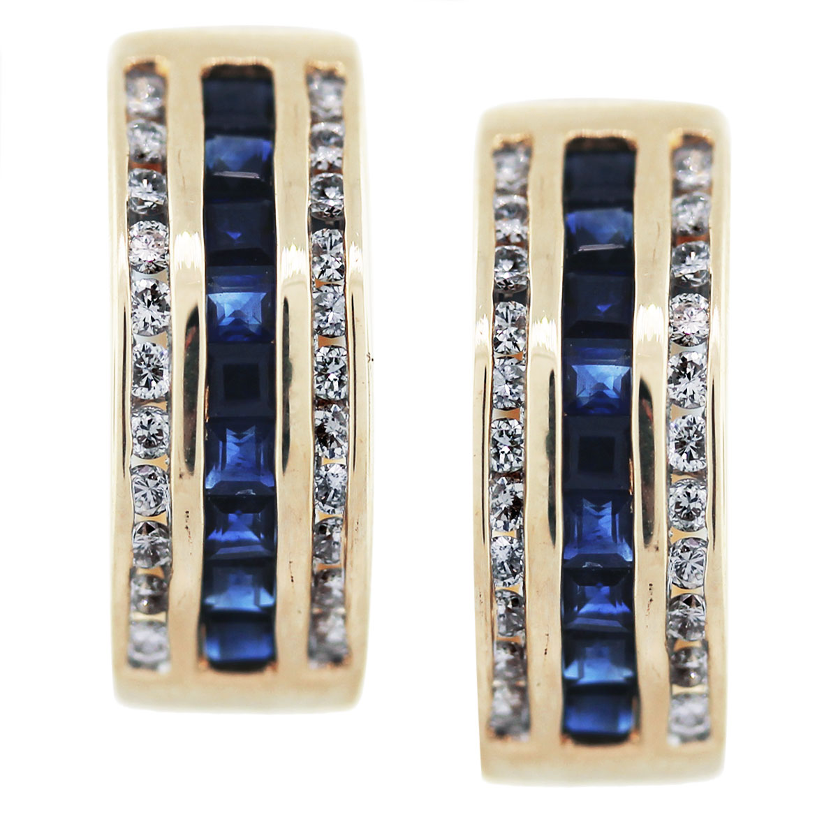 gold sapphire diamond earrings ladies