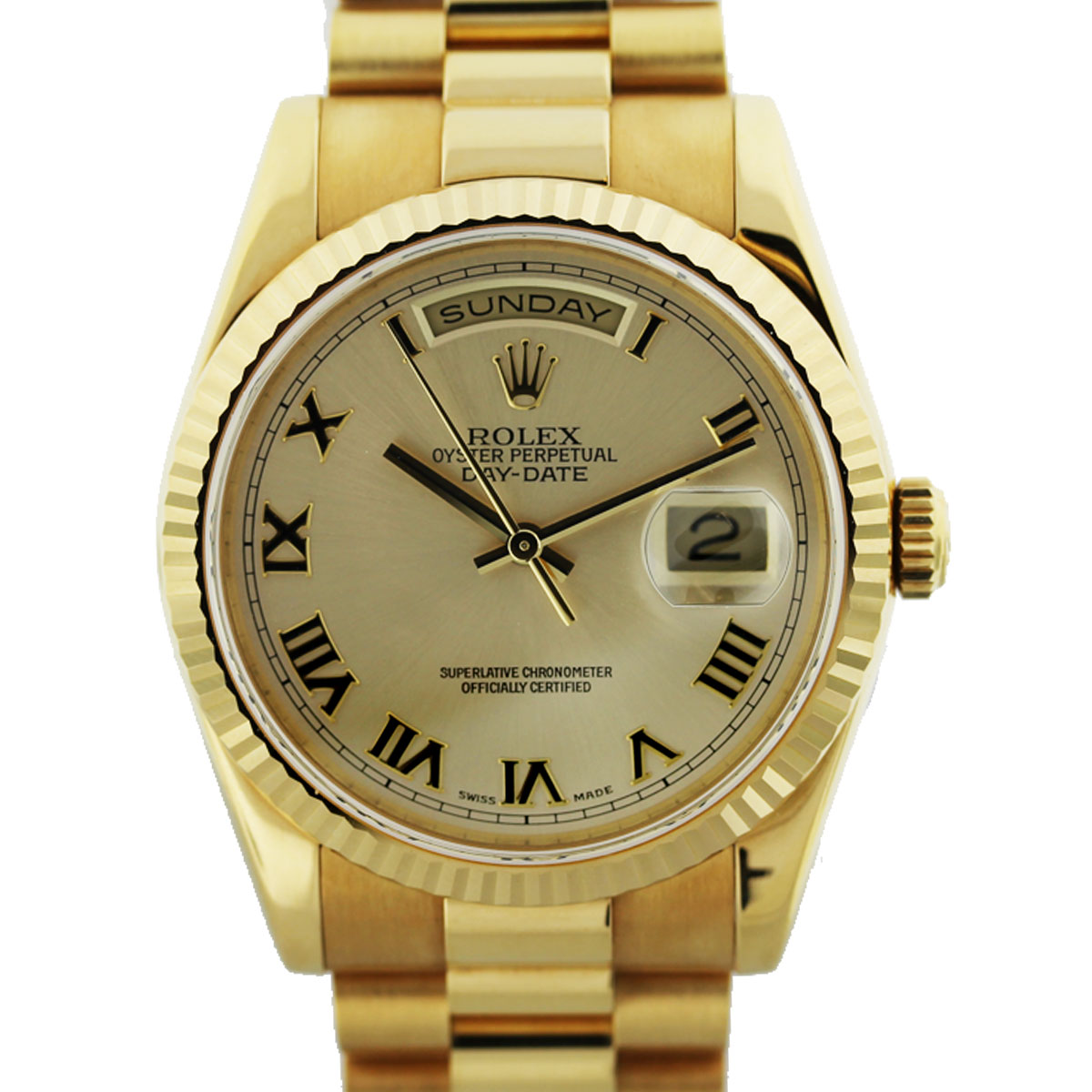 18k Yellow Gold Rolex 118238 President Gents Watch