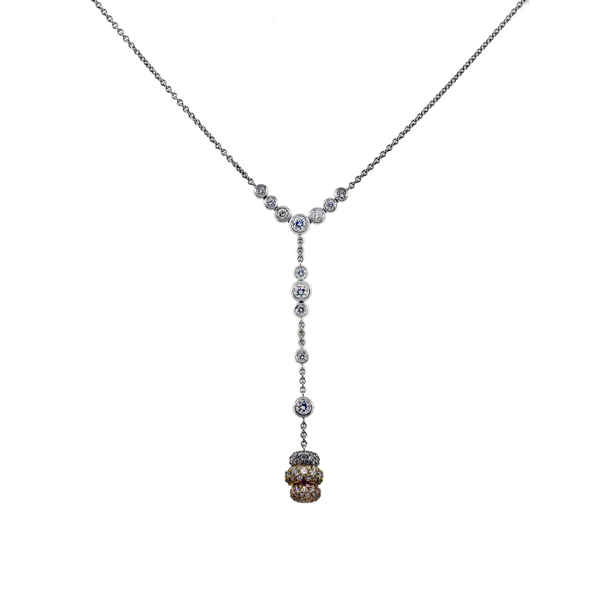 Pave Set Diamond Necklace