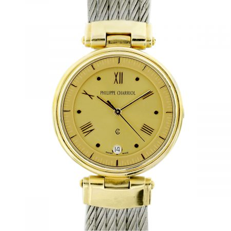 Philippe Charriol Gold Plated, Stainless Steel Cable Watch