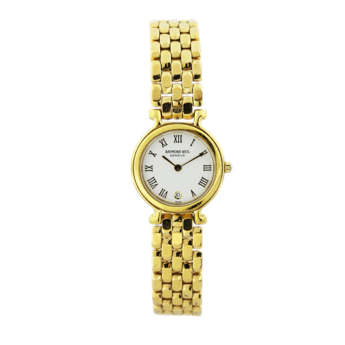 raymond weil 18k gold tone stainless steel