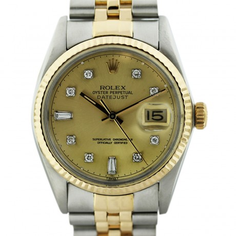 Two Tone Rolex Datejust 16013 Mens Watch