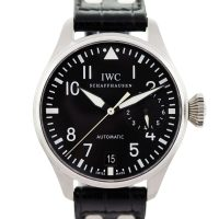 IWC Big Pilot IW5004-01 Stainless Steel Black Leather Watch