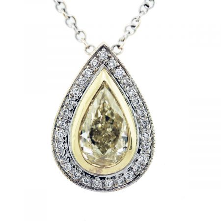 yellow diamond pear shape diamonds by the yard necklace pendant