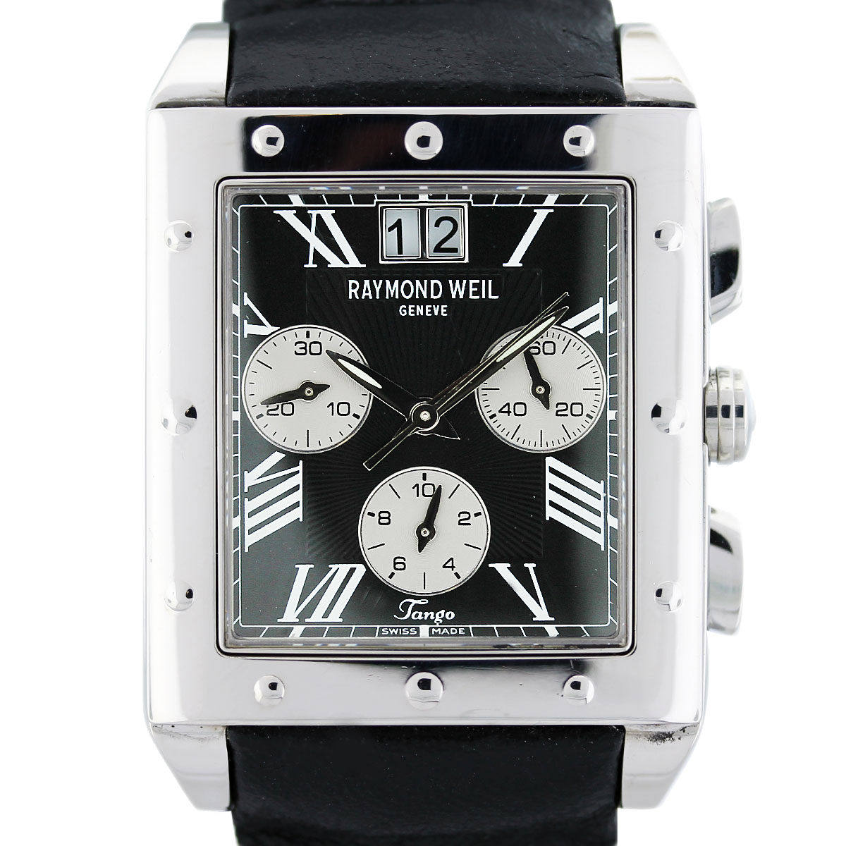 Raymond Weil Tango Stainless Steel On Leather Mens Watch