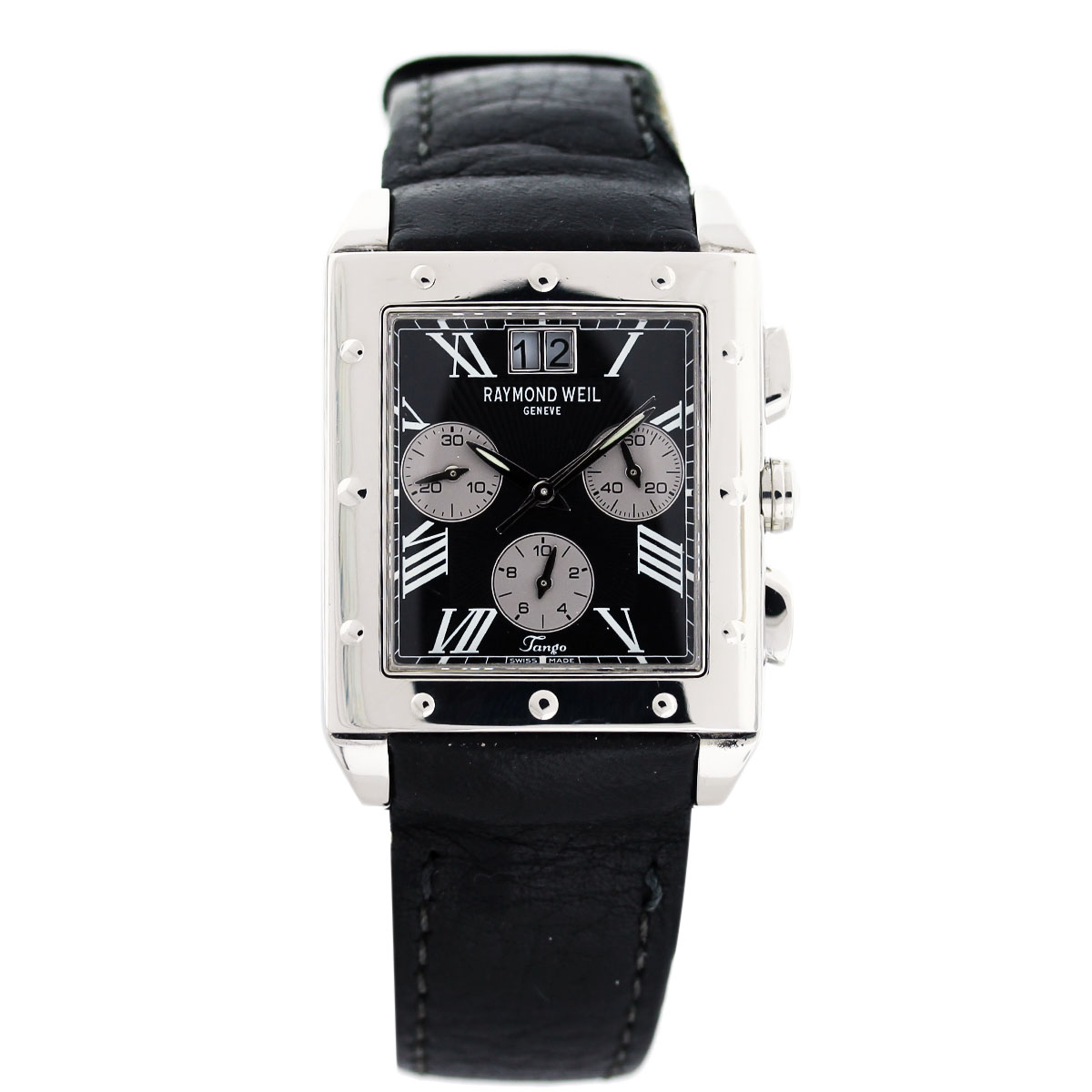 raymond weil tango stainless steel on leather mens watch boca raton raymond weil tango stainless steel on leather mens watch