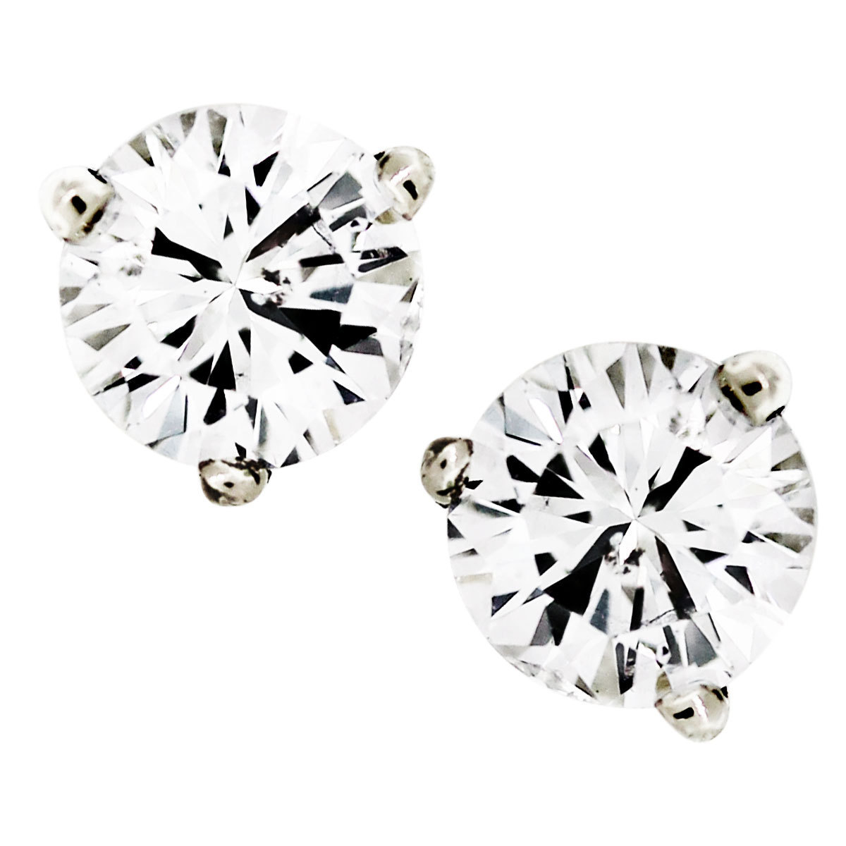 1 carat round diamond earrings