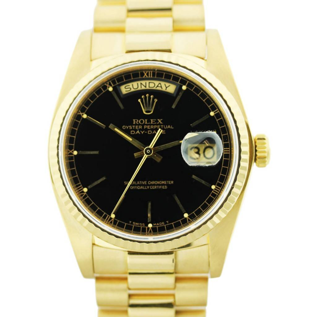 gold rolex president, pre owned gold rolex, used rolex day date, rolex day date boca