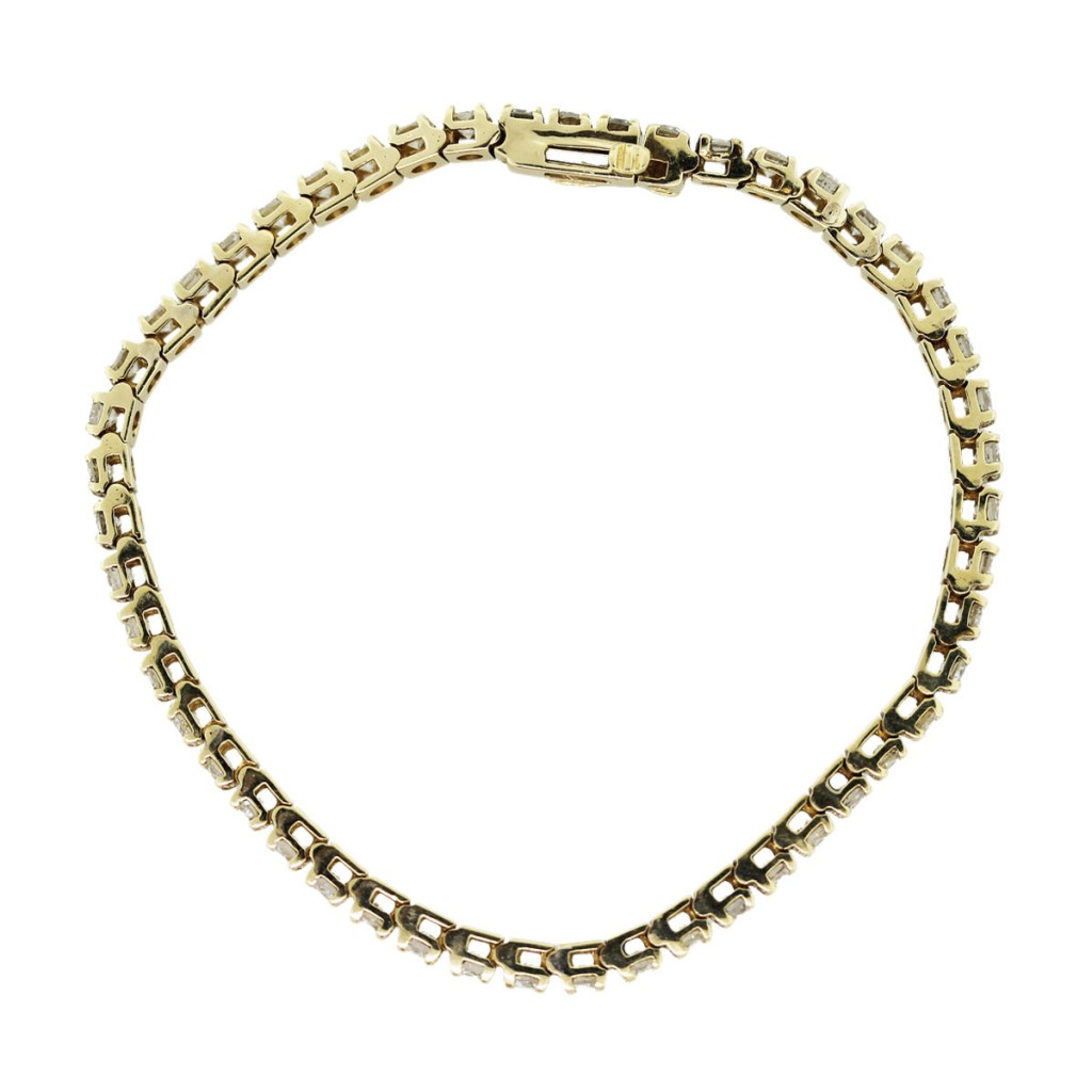 14k yellow gold 5 carat tennis bracelet boca