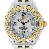 Breitling D67365 Two Tone Mother of Pearl Diamond Dial Ladies Watch