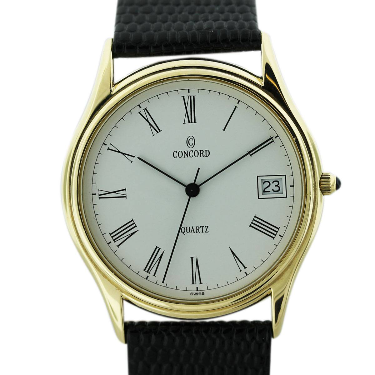 Vintage concord 14k yellow gold mens watch boca raton for Vintage gold watch