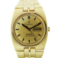 18k Yellow Gold Omega Constellation Day-Date Mens Watch
