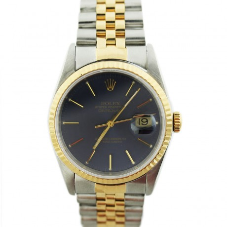 Two Tone Gold Rolex Datejust 16233 Mens SS Watch