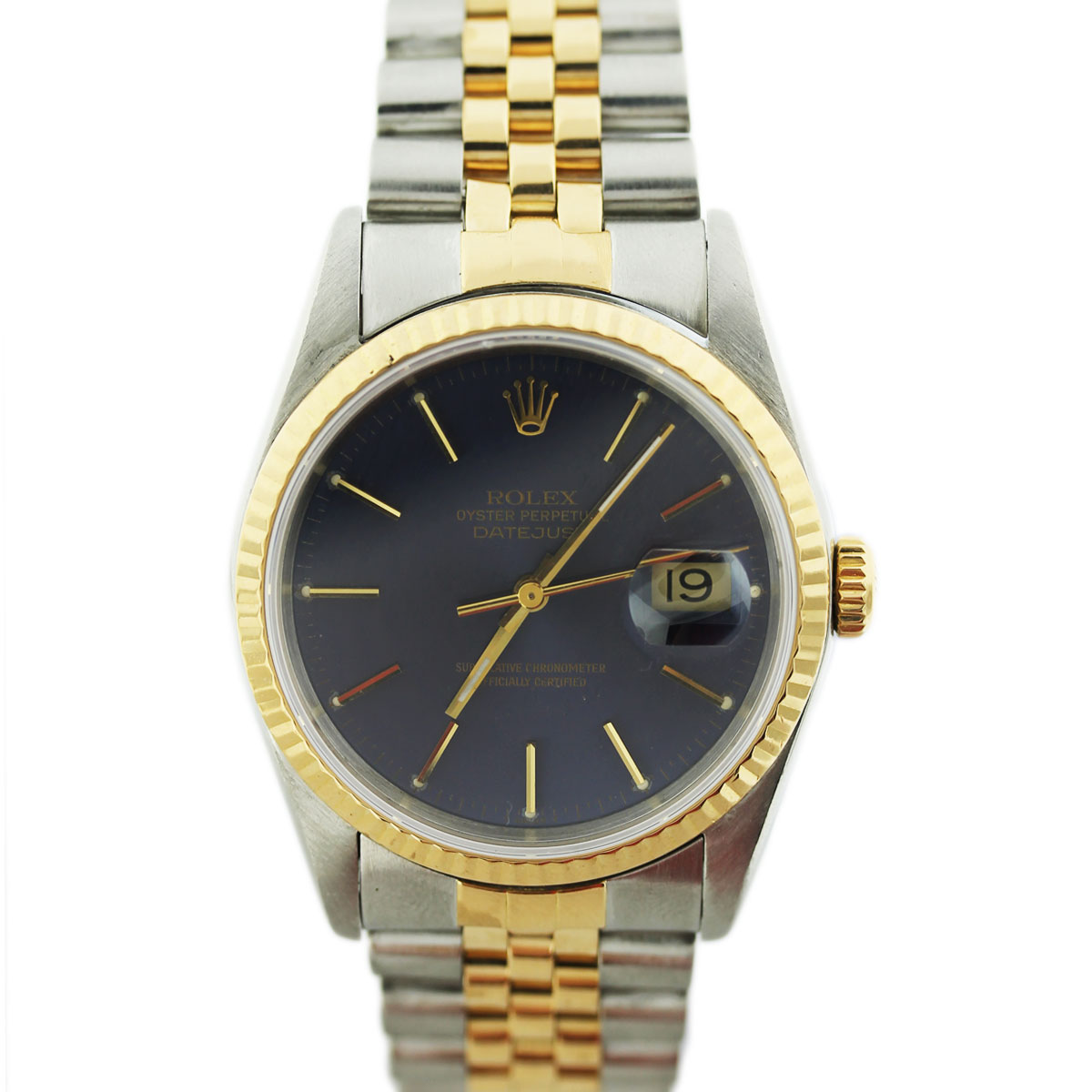 Mens Two Tone Rolex Datejust