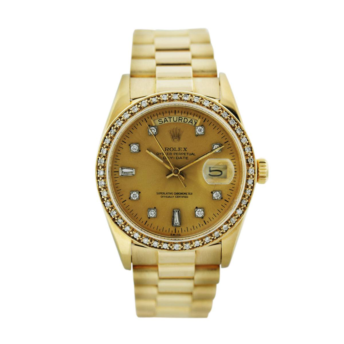 inauguration day the rolex presidential rolex presidential 18038 single quickset gold mens watch