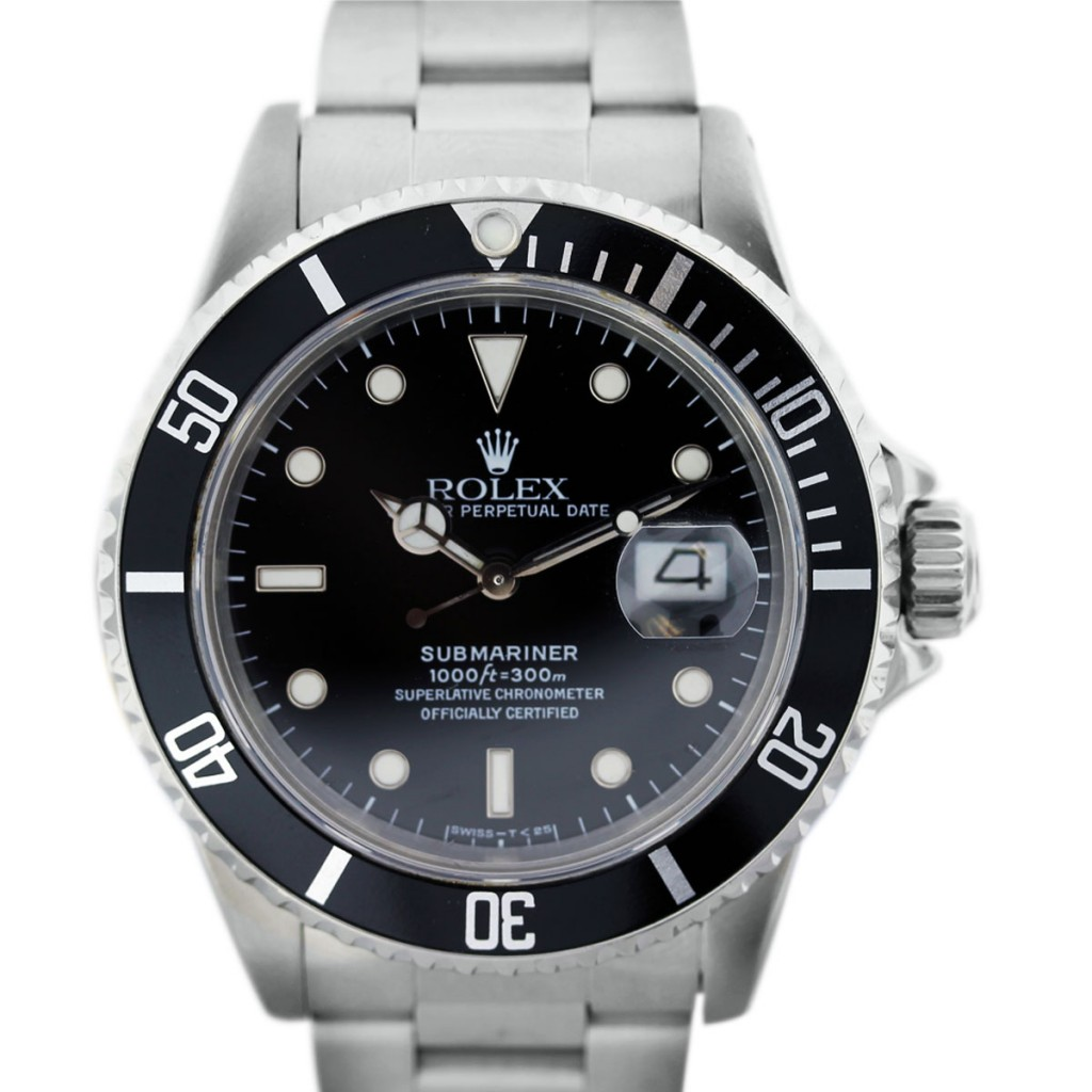 rolex submariner 16800 stainless steel mens boca raton