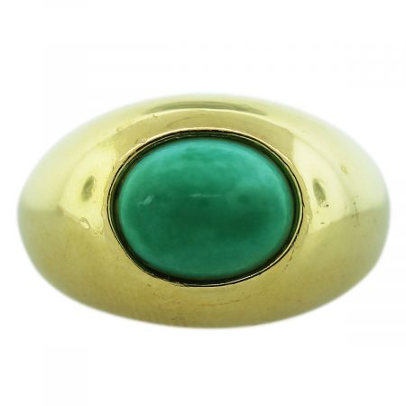 Turquoise Cabochon Mens Ring