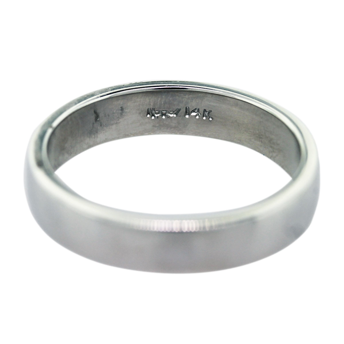 14k White Gold Mens Wedding Band Ring Boca Raton