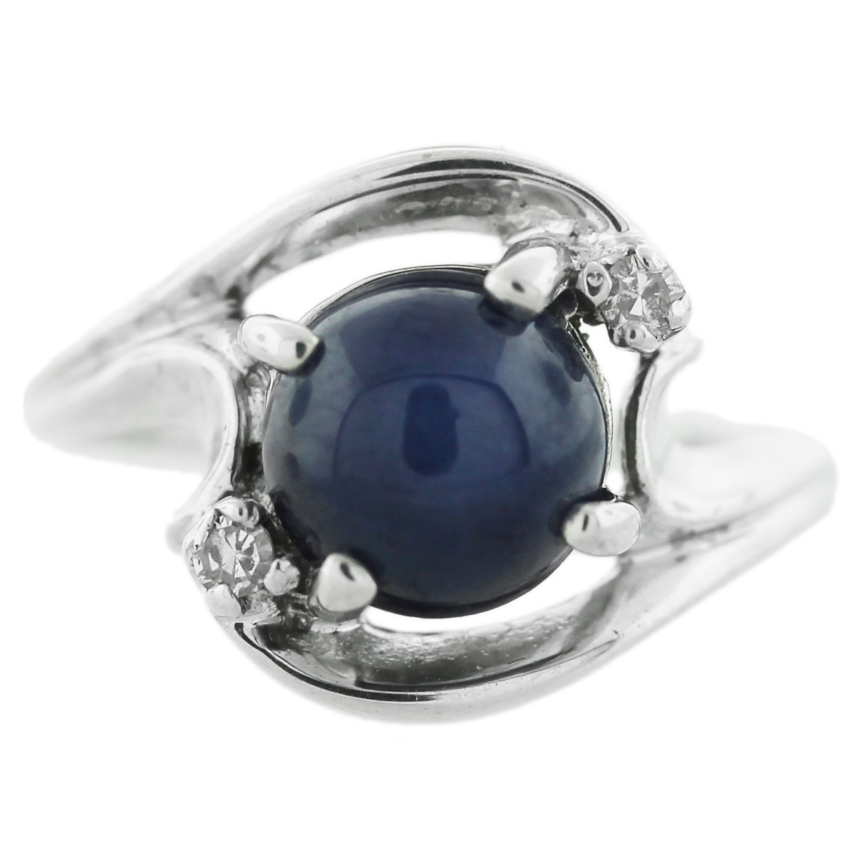 White Gold Star Sapphire Ring