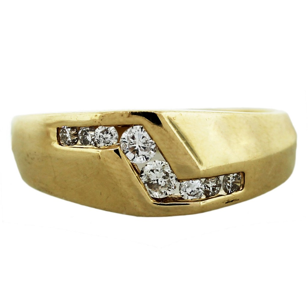 14k yellow gold accented mens ring boca raton