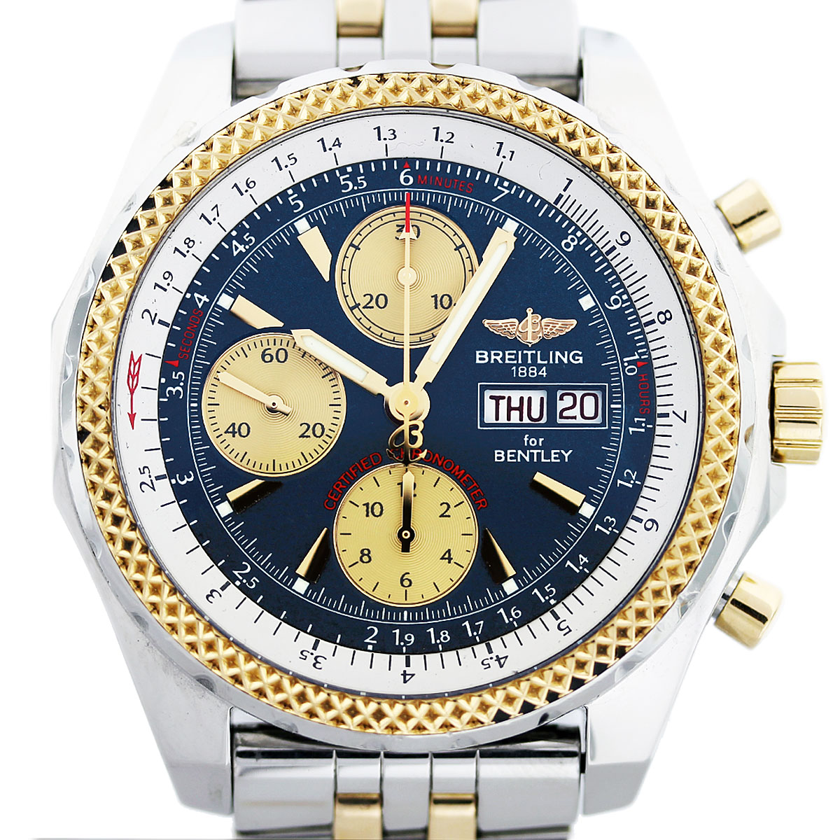 Breitling For Bentley Gt D13362 Two Tone Mens Watch Boca Raton
