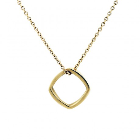 Tiffany and Co Frank Gehry Torque Pendant Necklace 18K Yellow Gold