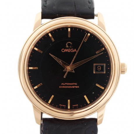Omega Limited Edition 1120 18K Rose Gold Automatic Mens Watch