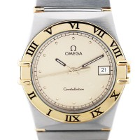 Omega Constellation Mens Two Tone Watch