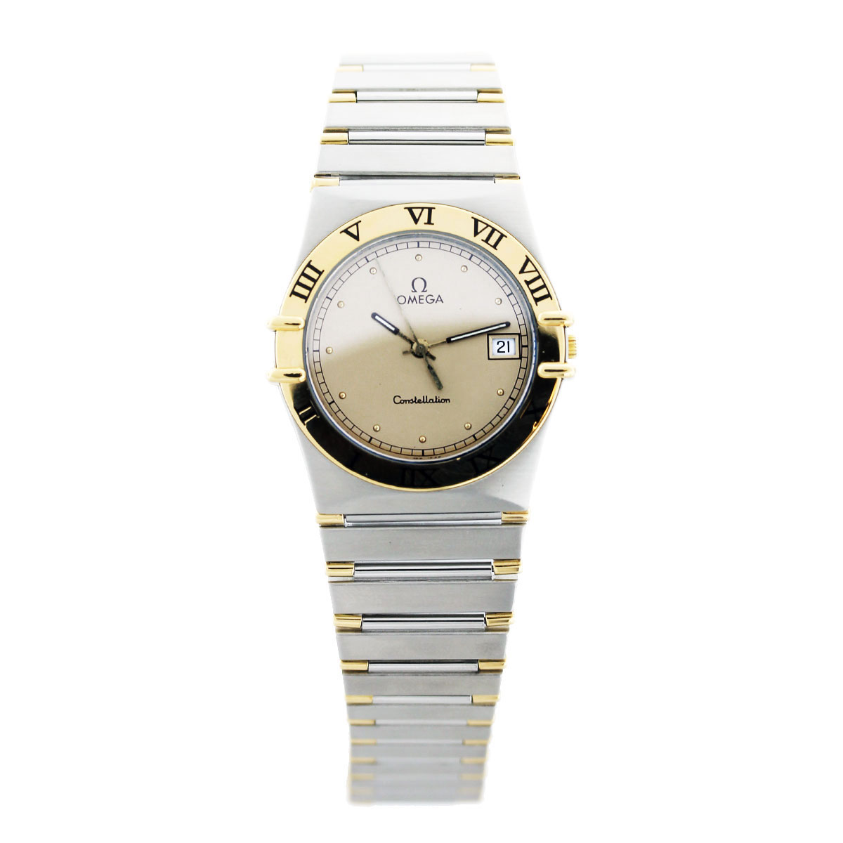 Omega constellation mens two tone watch boca raton for Omega watch constellation