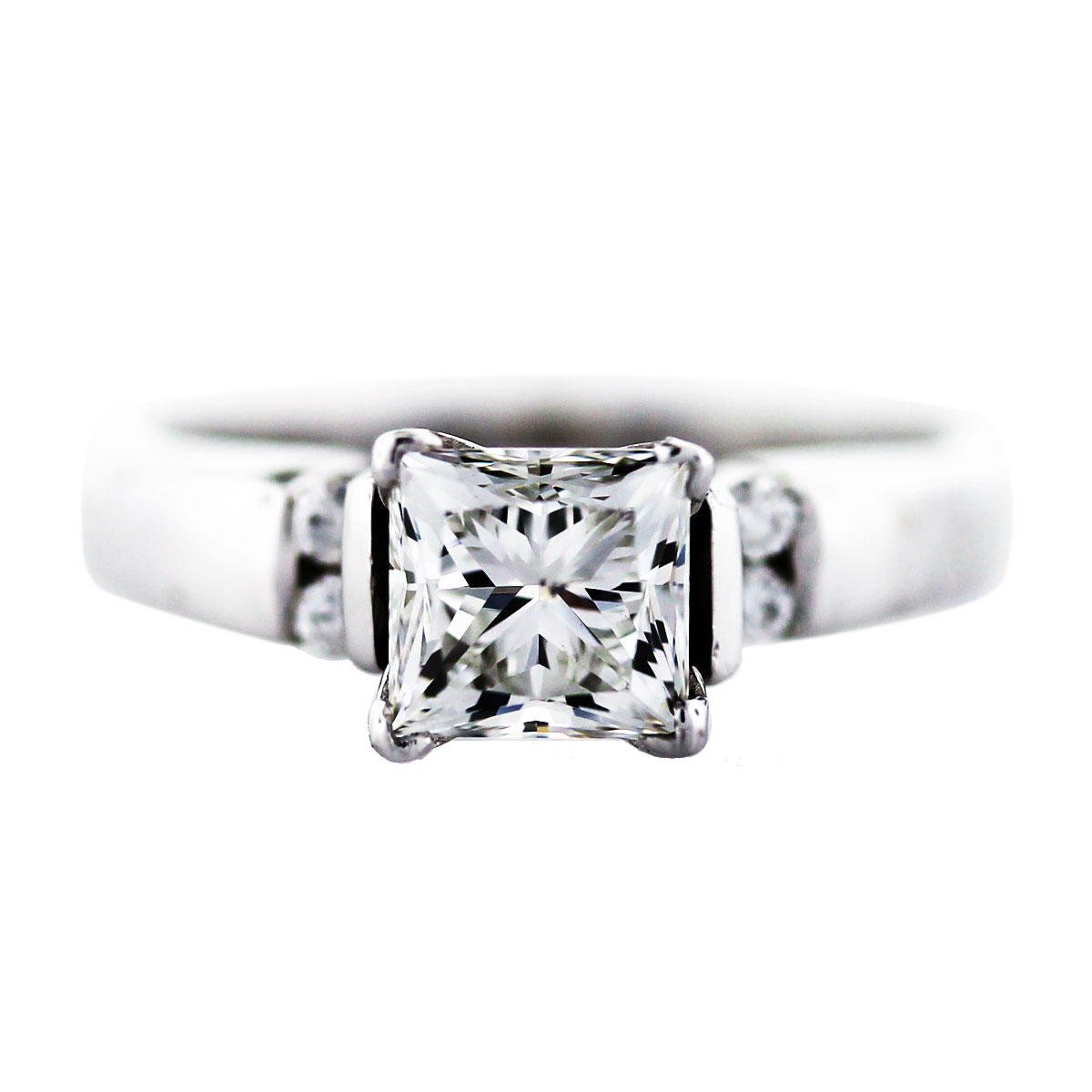 1 Carat Princess Cut Diamond Engagement Ring Boca Raton
