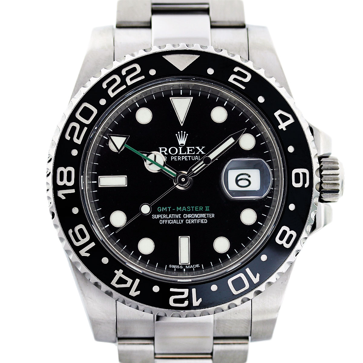 Rolex gmt master ii 116710 stainless steel watch boca raton for Rolex gmt master
