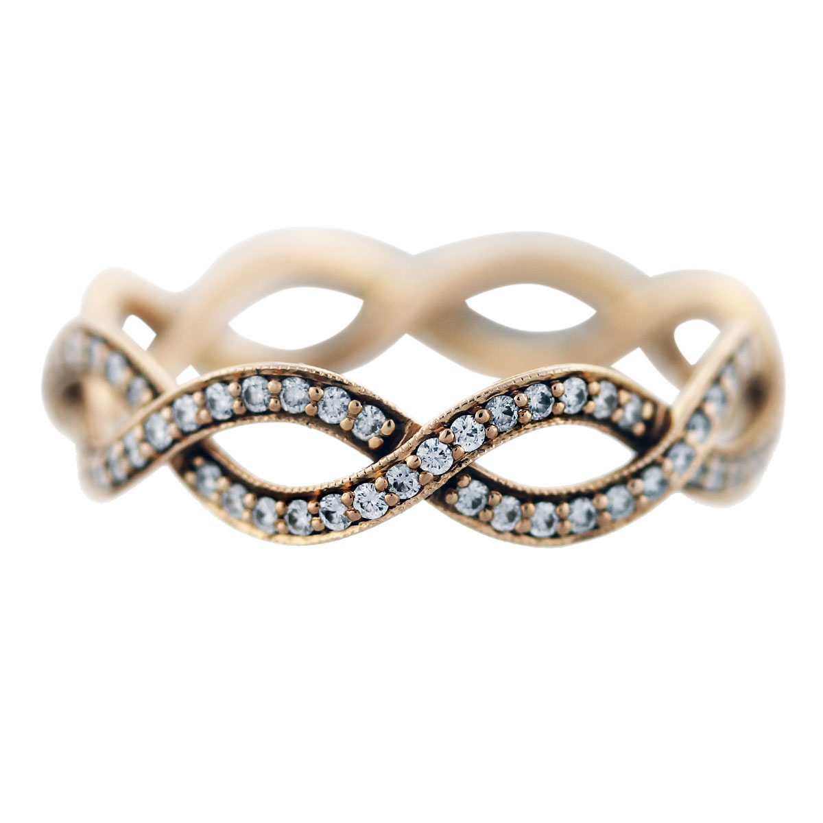 tiffany and co rose gold diamond infinity ring boca raton