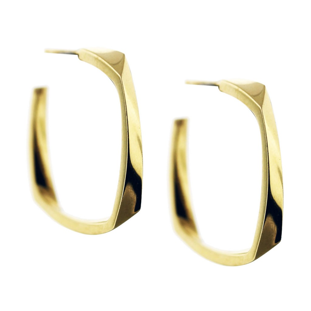 Tiffany Co Frank Gehry Torque Earrings 18k Yellow Gold