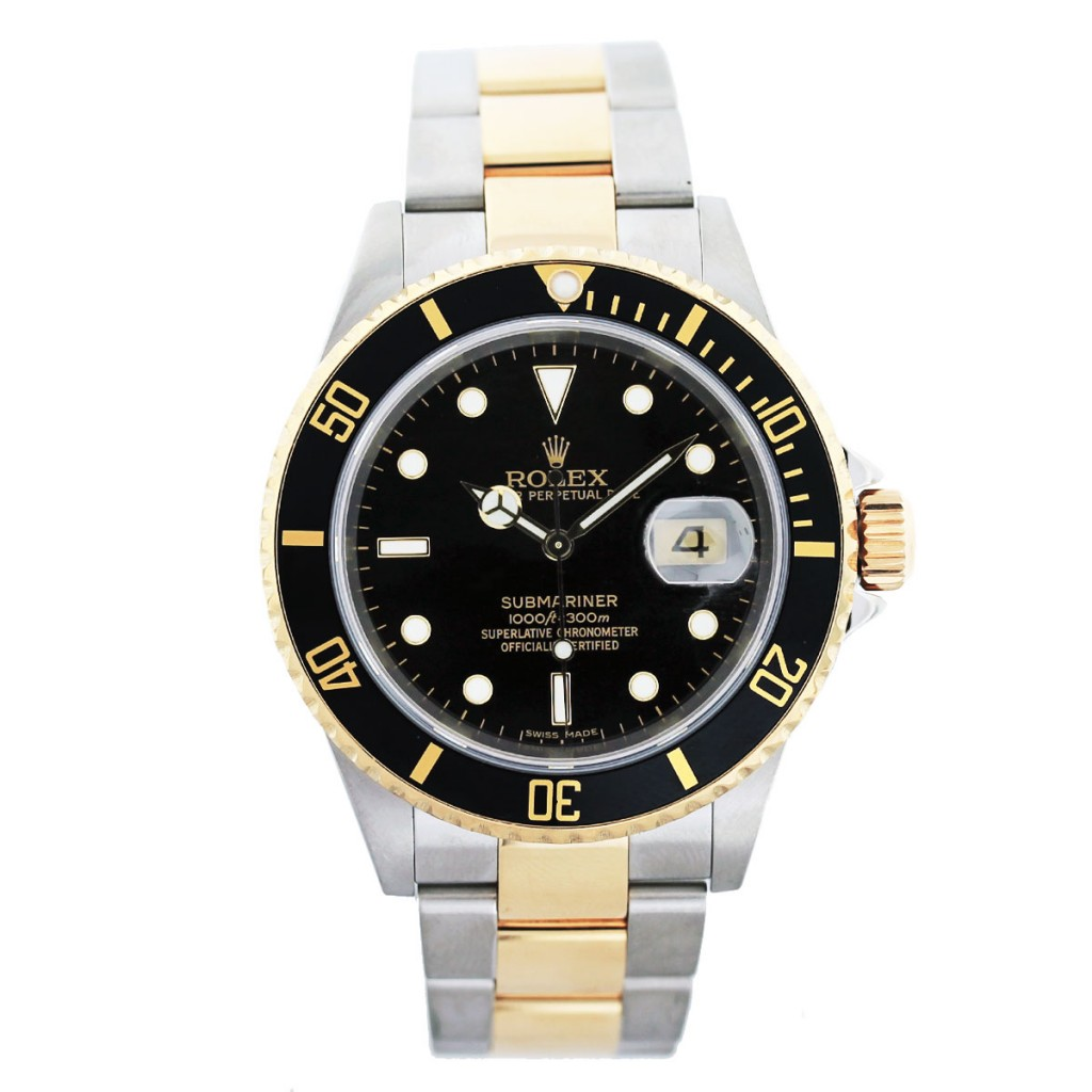rolex submariner 16613n two tone mens boca raton